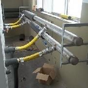 Montagem de linhas tubulares para fluxo vapor