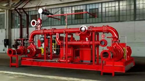 Montagem de tubulação de incêndio